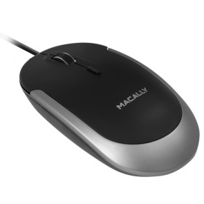Macally USB optical mouse - Black/Space gray