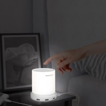 Table lamp w. 4 port USB charger - EU