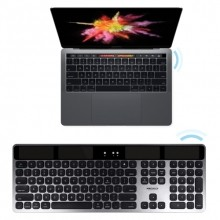 Solar powered slim Bluetooth wireless keyboard for mac
