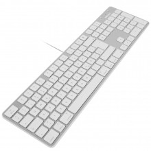 Macally Slim USB keyboard - White/Alu - Spanish