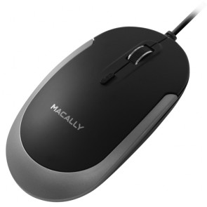 Macally USB-C optical mouse - Black/Space gray